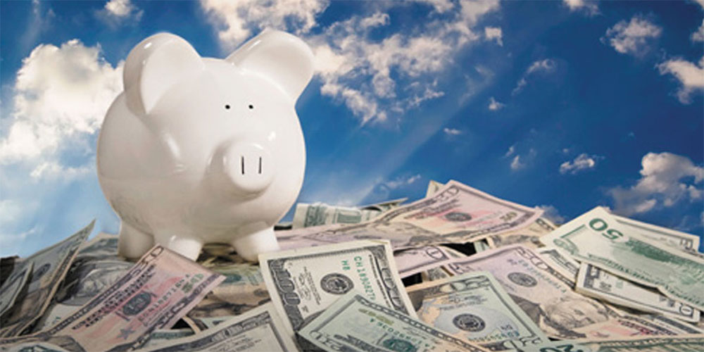Build your piggy bank by saving