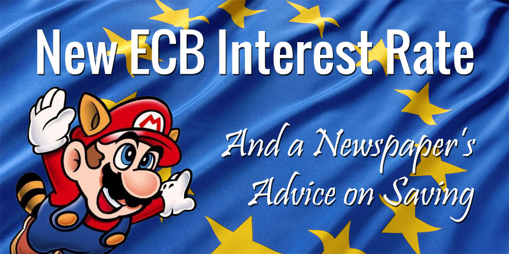 Advice from a Belgian Newspaper on Saving Following the New ECB Interest Rate