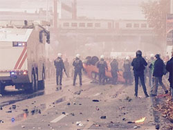 Violent Riots in Brussels on November 6, 2014