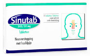 Sinutab, a Johnson and Johnson product
