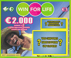Win for Life ticket to win €2,000