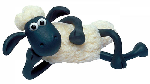 Shaun the Sheep is all ready for a story