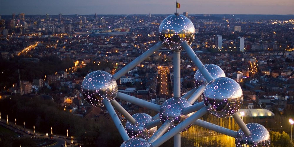 Atomium in Brussels, capital of Belgium and Europe